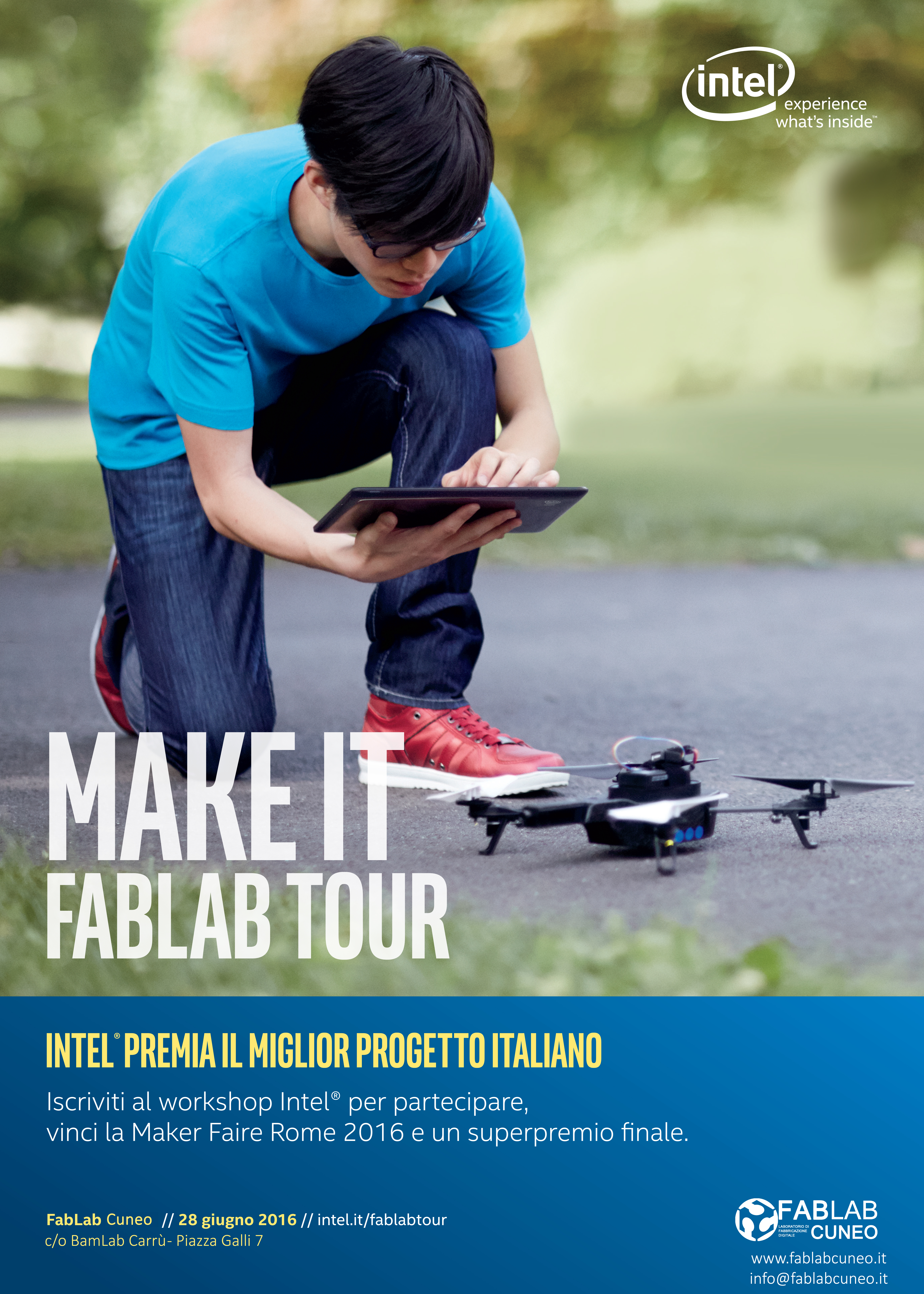 Intel al FabLabCuneo per FabLabTour 2016